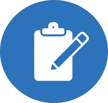 Icon image of clipboard and pen