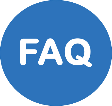Icon image that reads Frequently Asked Questions