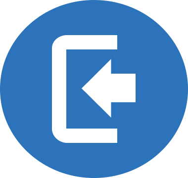 Icon image of an arrow pointing in