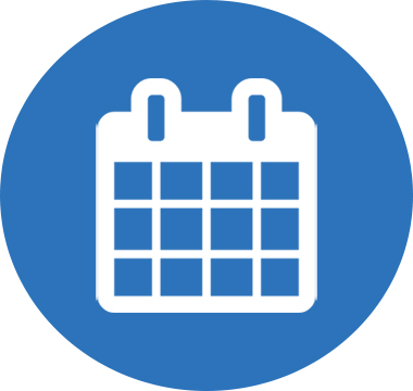 Icon image of a calendar