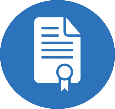 Icon image of a certificate