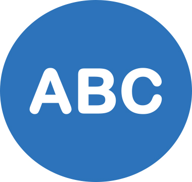 Icon image that reads ABC