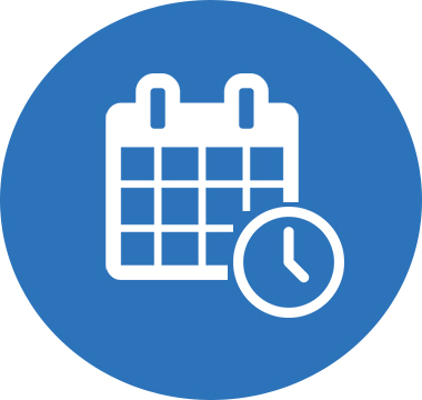 Icon image of a calendar and clock