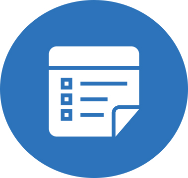 Icon image of a list with checkboxes